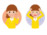 怒る女性と泣く女性