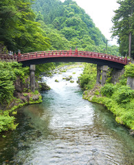 Red Bridge Shinkyo in Nikko, Japan