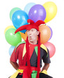 jester with balloons