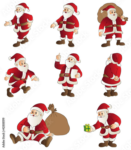 Santa Cartoon Set
