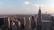 New York City. Bird's-eye view. Time lapse.