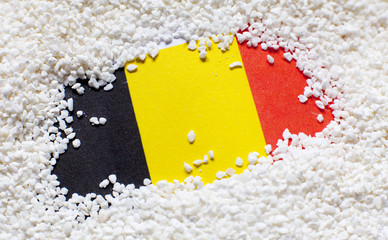 drapeau belge dans le sable