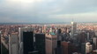New York City. Bird's-eye view. Time lapse.