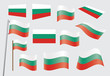 set of flags of Bulgaria vector illustration