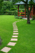 Beautiful lawn and  path