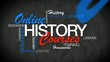 Online History courses e-learning word tag cloud animation video