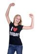 Happy Girl who loves Fridays