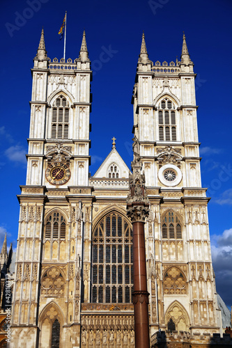 Westminster Abbey cathedral in London, UK