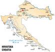 Übersichtskarte von Kroatien