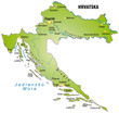 Landkarte von Kroatien