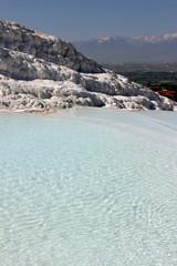 Tavertine pools and terraces