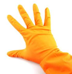Orange glove.
