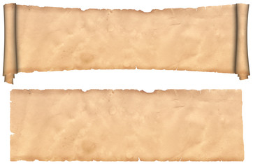 Antique scroll of parchment and old paper texture.