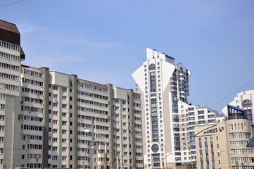 The residential complex in the city of Barnaul.