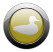 "Yellow Metallic Orb Button ""Duck"""