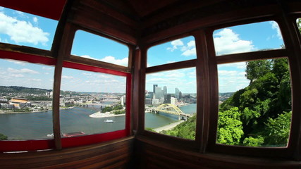 Inside Duquesne Incline Pittsburgh