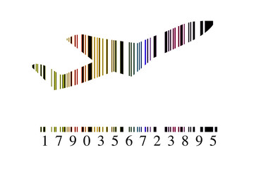 Código barras avión
