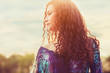 woman sunlight portrait