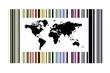 Código barras mapa mundi