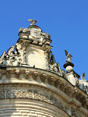 Construction of the seventeenth century in baroque style (detail