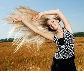 girl with great fly-away hair