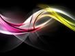 Color waves on dark background
