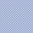 White dots on baby blue background retro seamless vector pattern