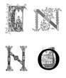 Lettrines CNO - Theme : Medieval