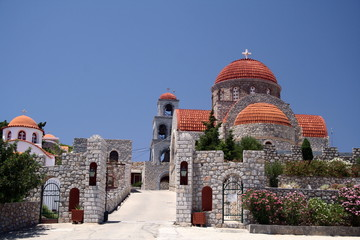 monastry at the island of kalymnos