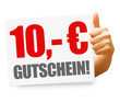 10,- Euro Gutschein! Button, Icon