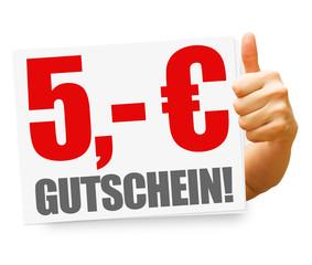 5,- Euro Gutschein! Button, Icon