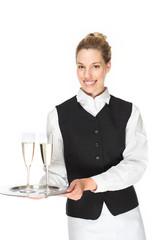 Sympathische Kellnerin