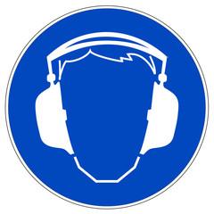 Schild - Gehörschutz benutzen