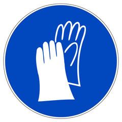 Schild - Handschutz benutzen