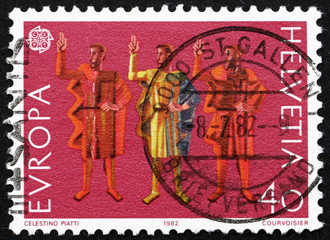 Postage stamp Switzerland 1982 Oath of Eternal Fealty