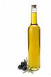 Botella de aceite de oliva virgen extra artesanal.