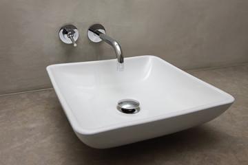 vasque en céramique carrée