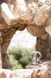 King's David ancestor's caves in ancient Hebron city of Israel