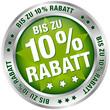 "Button ""Bis zu 10% Rabatt"" grün/silber"
