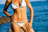 Attractive female body tan. poster