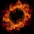 Fire ring, isolated on black background
