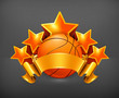 Orange sports emblem, basketball eps10