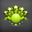 Tennis emblem, vector