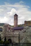 Clocktower at Barscrsija in historic core of Sarajevo poster