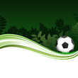 Green Football Poster With Trees