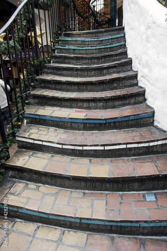 Stairs, Hundertwasser House, Vienna.