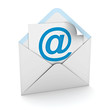 E mail concept on white background
