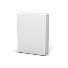 Blank box on white background with reflection