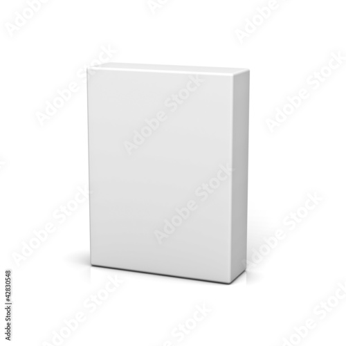 canvas print picture Blank box on white background with reflection