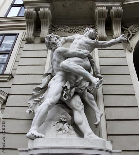 Hercules fighting Antaeus, Hofburg, Vienna